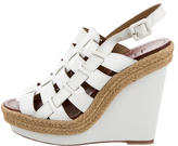 Christian Louboutin Leather Multistrap Wedge Sandals
