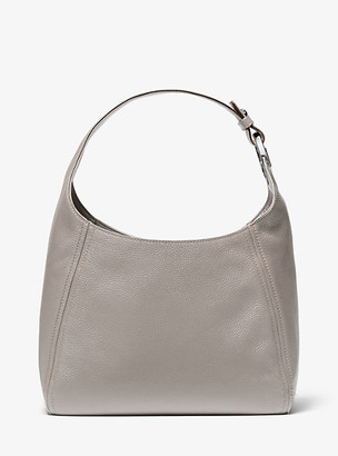 MICHAEL Michael Kors MK Fulton Large Pebbled Leather Shoulder Bag - Pearl Grey - Michael Kors