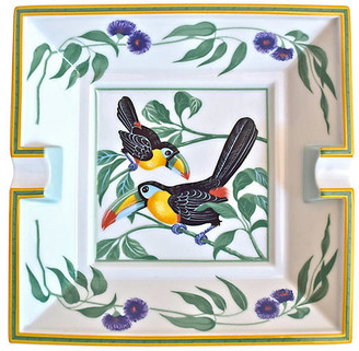 One Kings Lane Vintage Hermes France Toucan Cigar Ashtray w/Box - The Montecito Collection