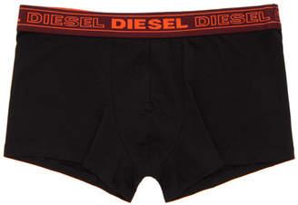 Diesel Three-Pack Black UMBX-Kory Boxer Briefs