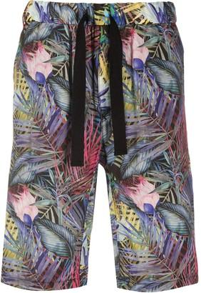 White Mountaineering Tropical Print Bermuda Shorts