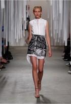 Milly Scribble Print Modern Mini Skirt