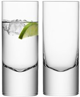 LSA International 360 ml Boris Highball, Clear (Pack of 2)