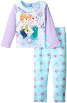 Nickelodeon Frozen 2 Piece Pajama Set (Toddler) - Purple - 3T