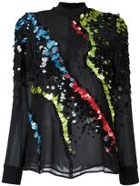 Versace 'Jagged Baroque' sequin detail blouse