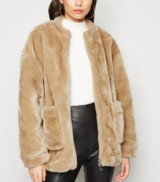 New Look NA-KD Faux Fur Jacket