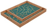 DENY Designs Elisabeth Fredriksson Copper And Teal Rectangular Tray
