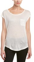 Eleven Paris Off-the-shoulder Silk-blend T-shirt.