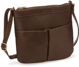 Le Donne Café Ambrose Leather Crossbody Bag