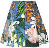 Marni Madder print skirt - women - Cotton/Linen/Flax - 36