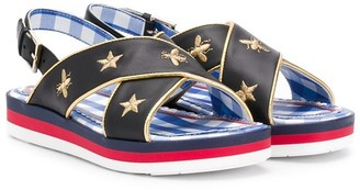 Gucci Kids Bee motif sandals