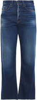 Thumbnail for your product : Rag & Bone Maya Cropped Frayed High-rise Kick-flare Jeans
