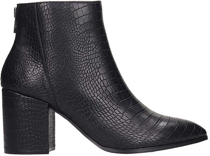 708ac624d4a Jillian Ankle Boots In Black Leather