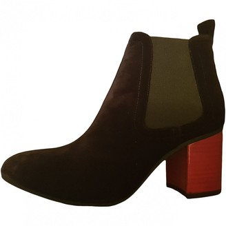Sonia Rykiel Black Suede Ankle boots