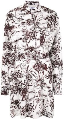 MSGM Graphic-Print Cotton Shirt Dress