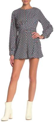 Do & Be Do + Be Twist Front Printed Romper