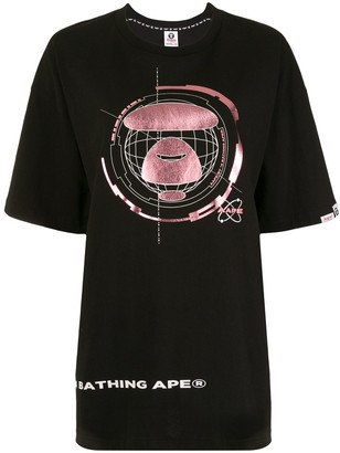 AAPE BY *A BATHING APE® short sleeve printed logo T-shirt