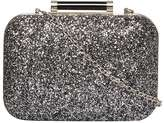 Dorothy Perkins Grey Glitter Roll Bar Clutch Bag