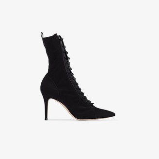 Gianvito Rossi 85mm Lace-Up Sock Boots
