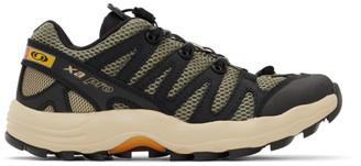 Salomon Khaki and Black XA Pro 1 Advanced Sneakers