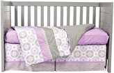 Trend Lab Purple Gray & White Florence Three-Piece Crib Bedding Set