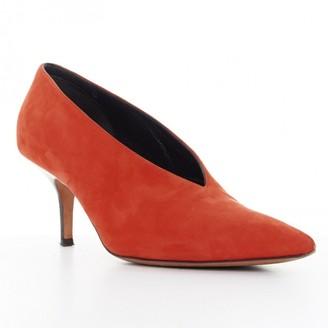 Celine Soft V Neck Orange Suede Heels