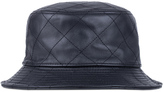 Stampd Black Leather Quilted Bucket Hat