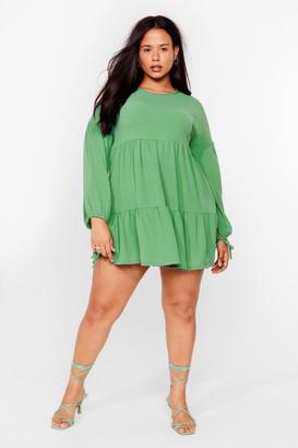 Nasty Gal Womens Tier's the Deal Plus Mini Dress - Sage