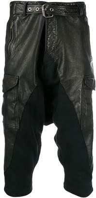 Greg Lauren cropped biker trousers