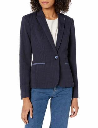 Tommy Hilfiger Women's Textured One Button Blazer