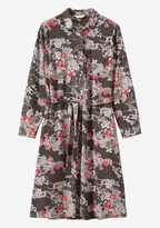 Toast Guan Floral Spun Silk Dress
