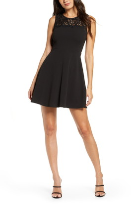 Lulus According to Love Lace Skater Dress