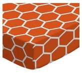 SheetWorld Fitted Pack N Play Sheet - Burnt Honeycomb - Made In USA - 29.5 inches x 42 inches (74.9 cm x 106.7 cm)
