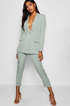 boohoo Military Button Detail Tapered Pants
