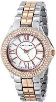 Anne Klein Women's AK/1463MPRT Swarovski Crystal Accented Rose Gold-Tone and Silver-Tone Bracelet Watch