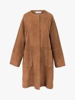Gerard Darel Gianna Suede Coat, Dark Brown