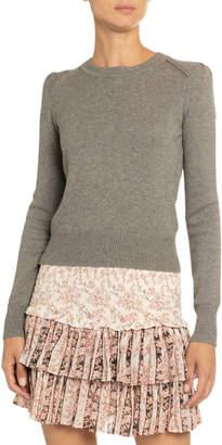 Etoile Isabel Marant Kleely Cotton-Wool Crewneck Sweater