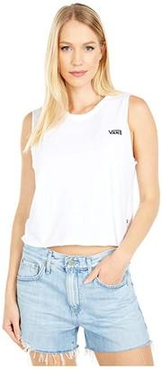 Vans Junior V Crop Muscle Tank (Rose Dawn) Women's Sleeveless