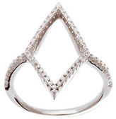 Lord & Taylor Cubic Zirconia Open Diamond Station Ring
