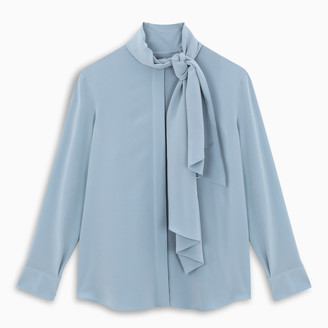 Salvatore Ferragamo Light-blue silk blouse