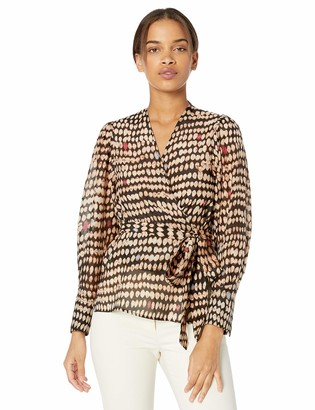 BCBGMAXAZRIA Women's Wrap Top