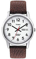 Timex Men's Easy Reader Brown Leather Strap Wat