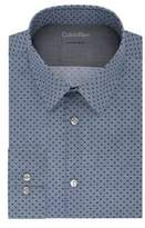 Calvin Klein Extra Slim-Fit Geometric Dress Shirt