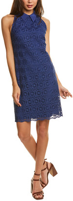 Trina Turk Lace Silk-Trim Shift Dress
