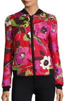 Helene Berman Floral Print Bomber Jacket
