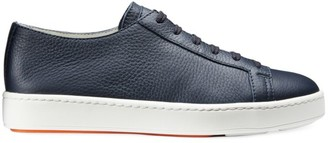 Santoni Lace-Up Leather Sport Sneakers