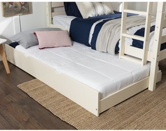 Manor Park Solid Wood Junior Twin Trundle Bed, White