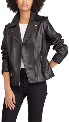 Lauren Ralph Lauren Leather Moto Jacket