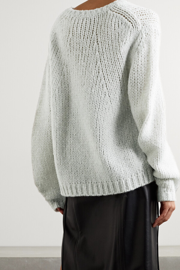 Thumbnail for your product : Helmut Lang Oversized Open-knit Sweater - Gray