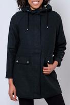Noisy May Hooded Plaid Coat